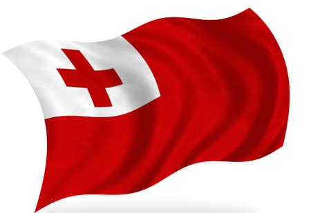 tonga: Tonga  flag, isolated