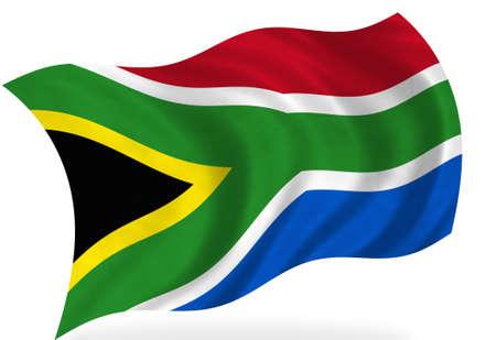afrika: South Africa flag, isolated