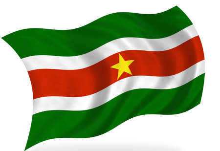 Suriname: Suriname  flag, isolated