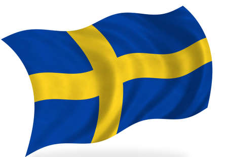 Sweden  flag, isolated photo