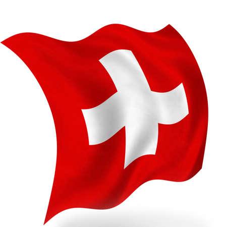 Switzerland flag, isolated photo