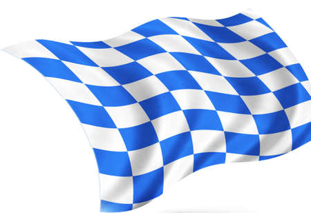 tessellated: bavaria flag, isolated
