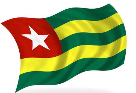 togo: Togo flag, isolated