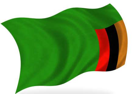 zambia: Zambia  flag, isolated