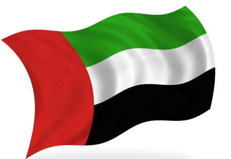 Bandera de los Emiratos Árabes Unidos, aislado