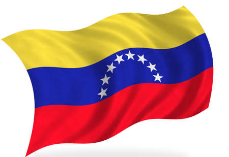 venezuela: Venezuela  flag, isolated