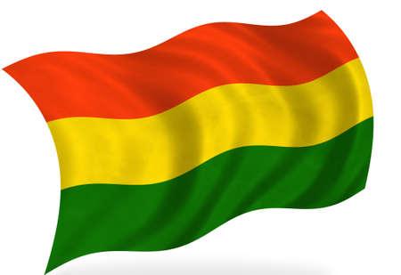 bandera de bolivia: Bandera de Bolivia, aislado  Foto de archivo