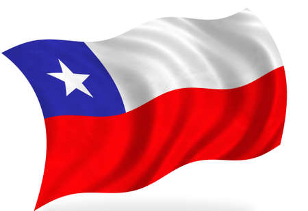 Chile-Flag, isoliert Standard-Bild