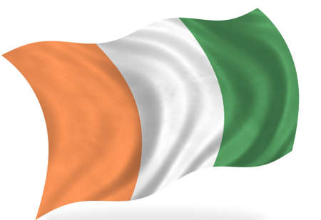 cote d ivoire: Cote- d- Ivoire flag, isolated Stock Photo