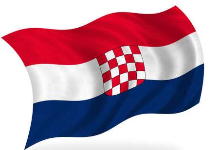 croatia flag: Croatia flag, isolated