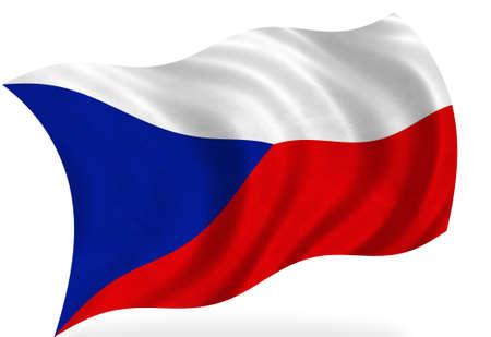 czech: Czech Republic flag, isolated Stock Photo