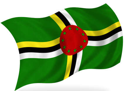 dominica: Dominica  flag, isolated