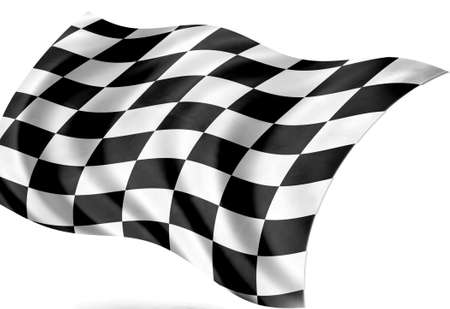 tessellated: start - finishing flag Stock Photo