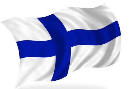 lapland: Finland flag, isolated Stock Photo