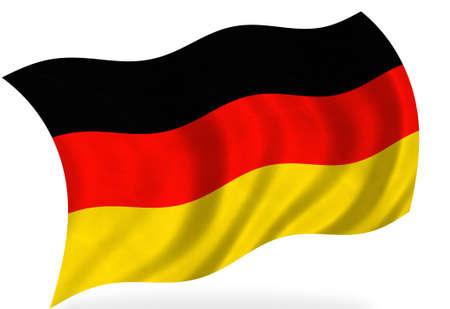 deutschland fahne: Deutschland-Flagge, auf wei� Lizenzfreie Bilder