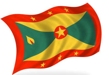 grenada: Grenada  flag, isolated