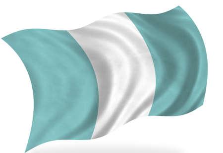 bandera de guatemala: Bandera de Guatemala, aislado  Foto de archivo