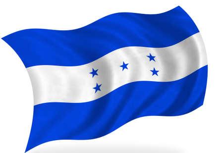 bandera honduras: Bandera de Honduras, aislado  Foto de archivo