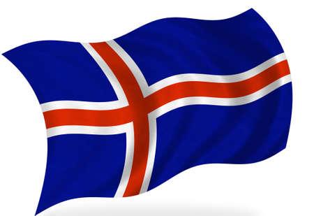 flag of iceland: Bandera de Islandia, aislado  Foto de archivo