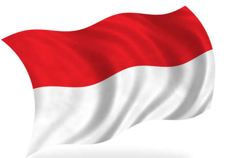Bandiera di Indonesia, isolato Archivio Fotografico - 7928295