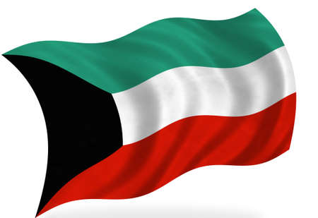 kuwait flag, isolated Stock Photo - 7928312