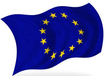Fahne der Europäischen Union, isoliert  Lizenzfreie Bilder