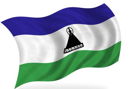 lesotho: Lesotho  flag, isolated Stock Photo