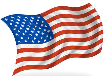 Vlag van de Verenigde Staten van Amerika, geïsoleerd