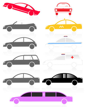 passenger and special cars set Stock Vector - 7990155