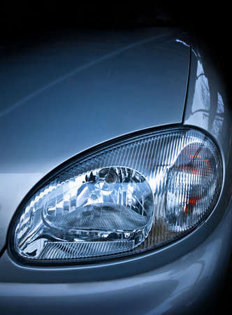 headlamp: the car headlamp, contrast.
