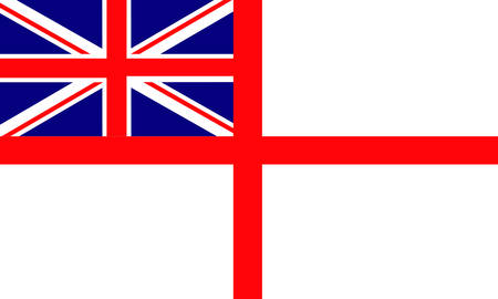 Great Britain marine flag Stock Vector - 8069283