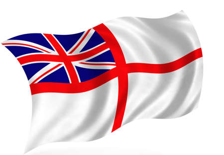 Great Britain marine flag, isolated Stock Photo - 8069284