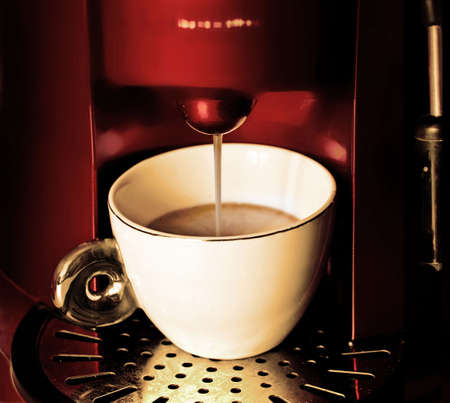 capucinno: working cofee- machine