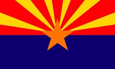 Arizona (USA) flag Ilustração