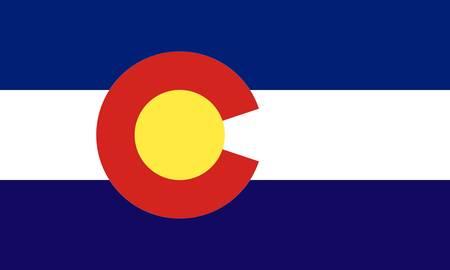 Colorado (USA) flag  Stock Vector - 8310648