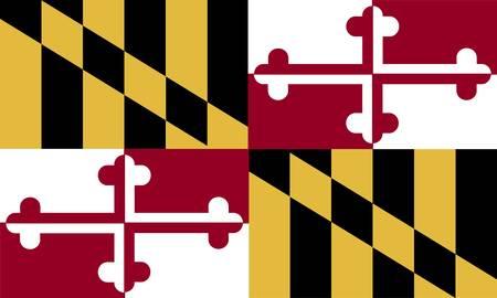 Bandiera del Maryland (USA) Archivio Fotografico - 8310674