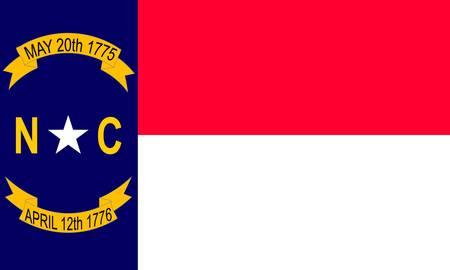 North Carolina (USA) flag Stock Vector - 8310676
