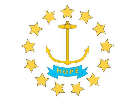 Rhode Island (USA) flag Stock Vector - 8310675
