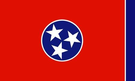 tennesse: Bandera de Tennessee (Estados Unidos) Vectores