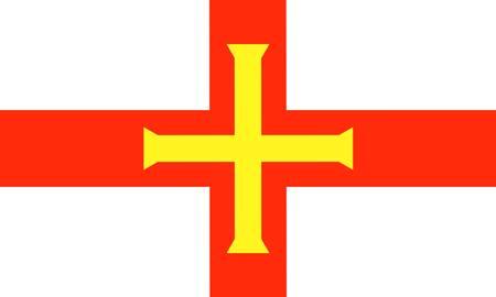 guernsey: Guernsey island, flag