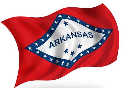 Arkansas (USA) flag Stock fotó - 8364299