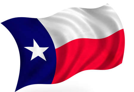 flapping: Texas (USA) flag Stock Photo