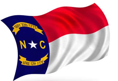 North Carolina (USA) flag Stock Photo - 8364284
