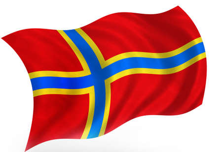Orkney (Scotland) flag  photo