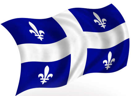 Bandiera del Quebec (Canada) Archivio Fotografico - 8364287