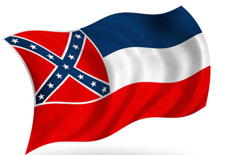 Mississippi (USA) flag Stock fotó - 8364296