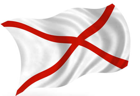 alabama: Alabama (USA) flag  Stock Photo