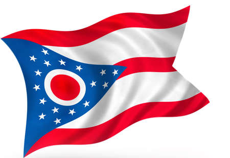 Ohio (USA) flag Stock Photo - 8364276