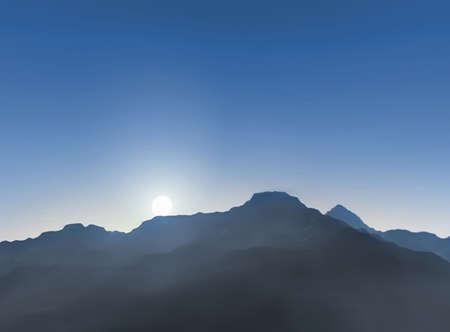 mountains at sunset Stock Photo - 8408935