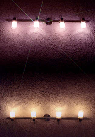 electrolier: lanterns on shaded wall
